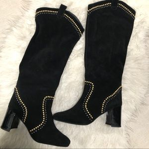 Jeffrey Campbell free people western suede studded
